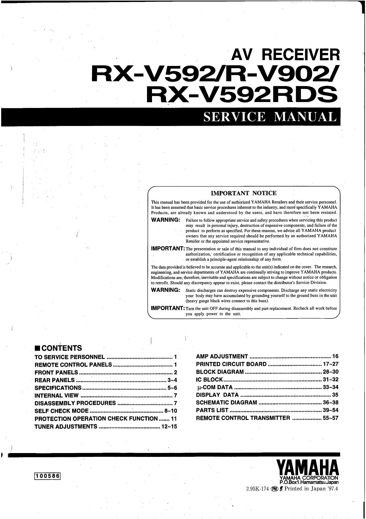 download free pdf for yamaha r v902 receiver manual rh umlib com Yamaha R6 Yamaha YZF-R1