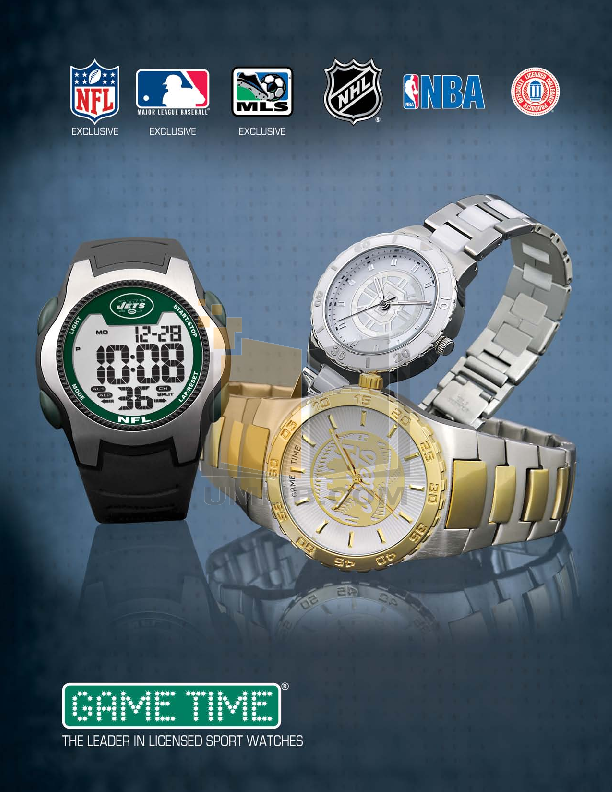 pdf for Gametime Watch NFL-FE-WAS manual