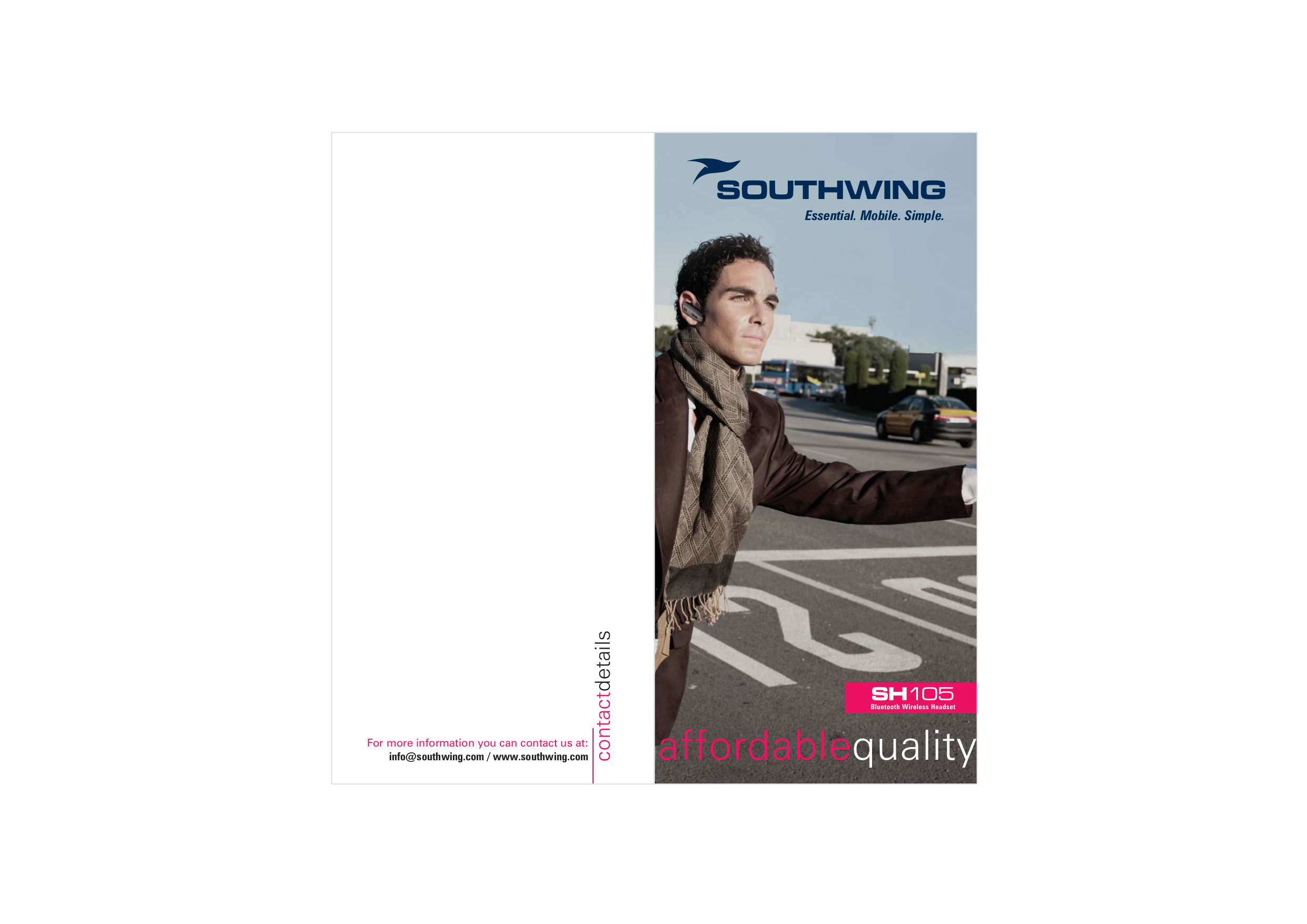 pdf for SouthWing Headset SH-105 manual
