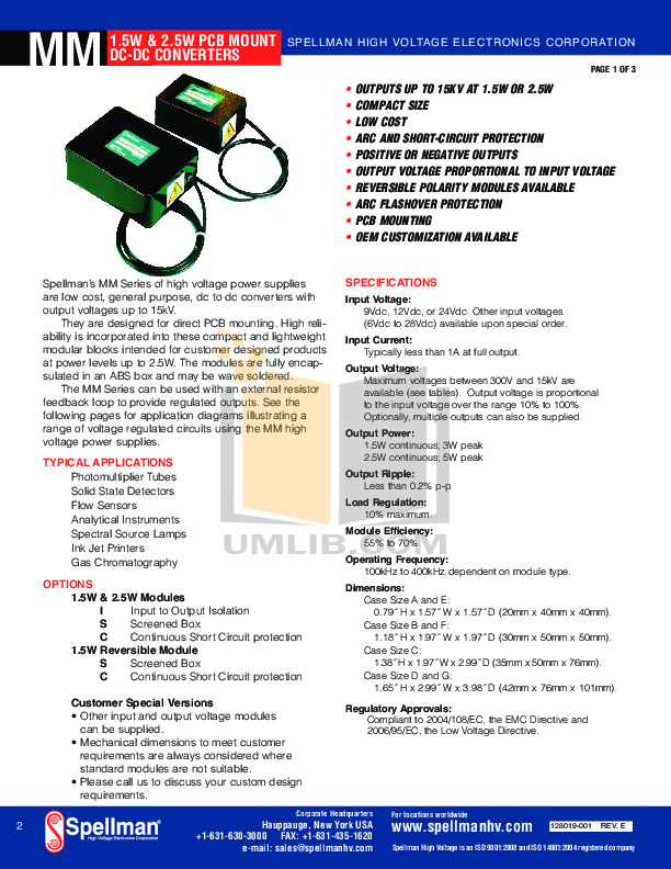 Apogee Other UV-1000 Processor pdf page preview