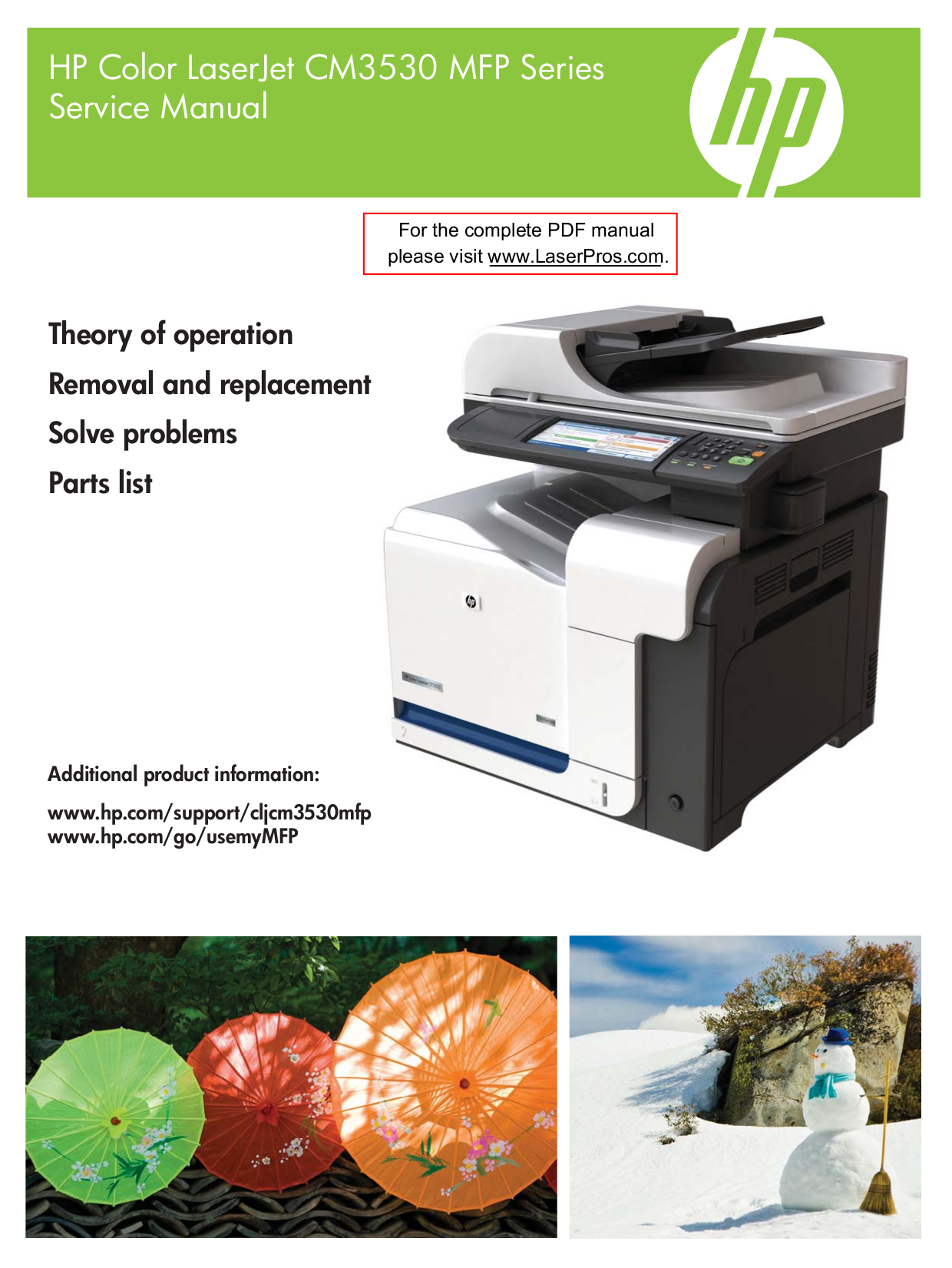 pdf for HP Multifunction Printer Laserjet,Color Laserjet CM3530mfp manual