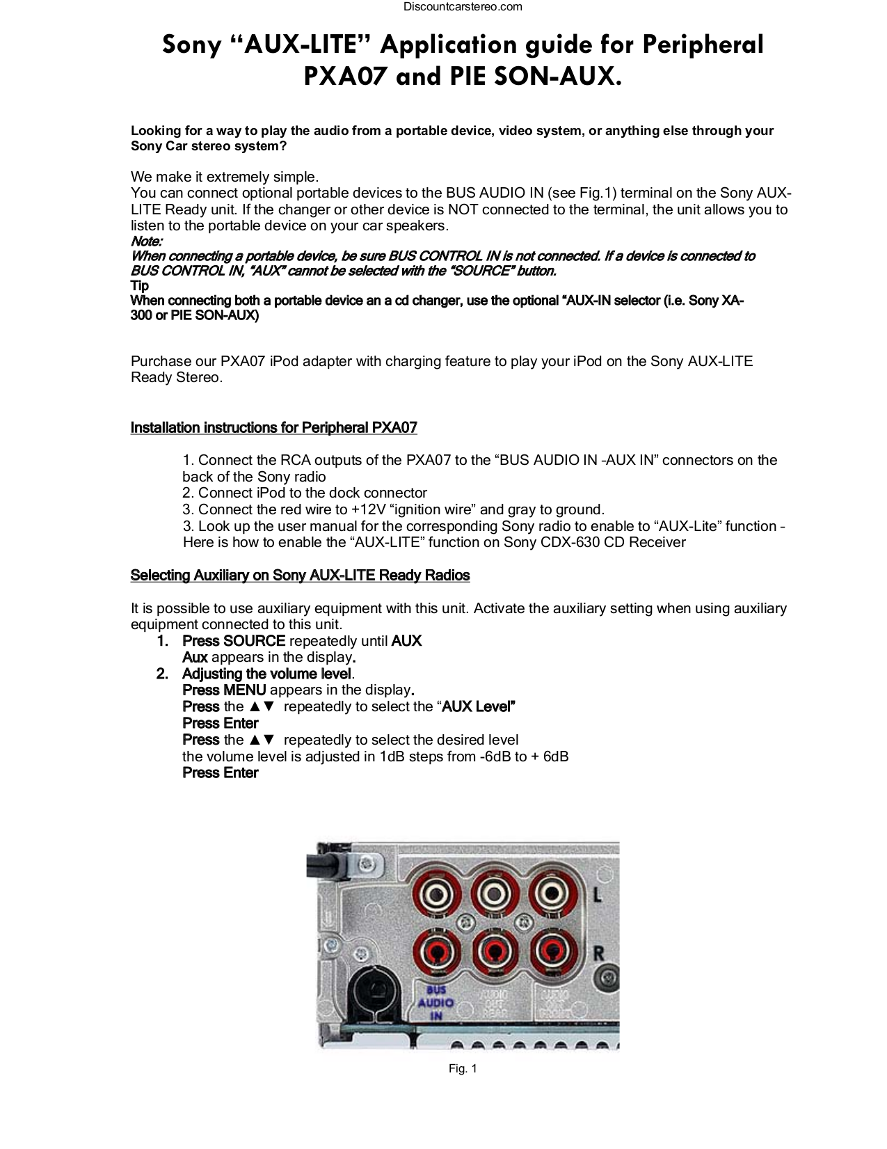 pdf for sony car receiver cdx-m800 manual