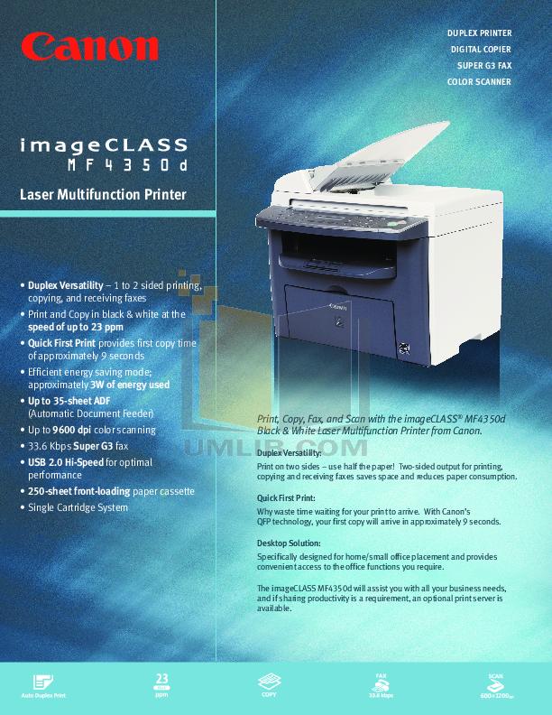 Canon imageclass mf4350d printer driver for mac.