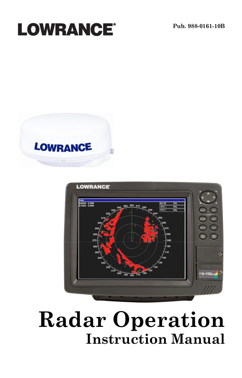 pdf for Lowrance GPS X515C DF manual