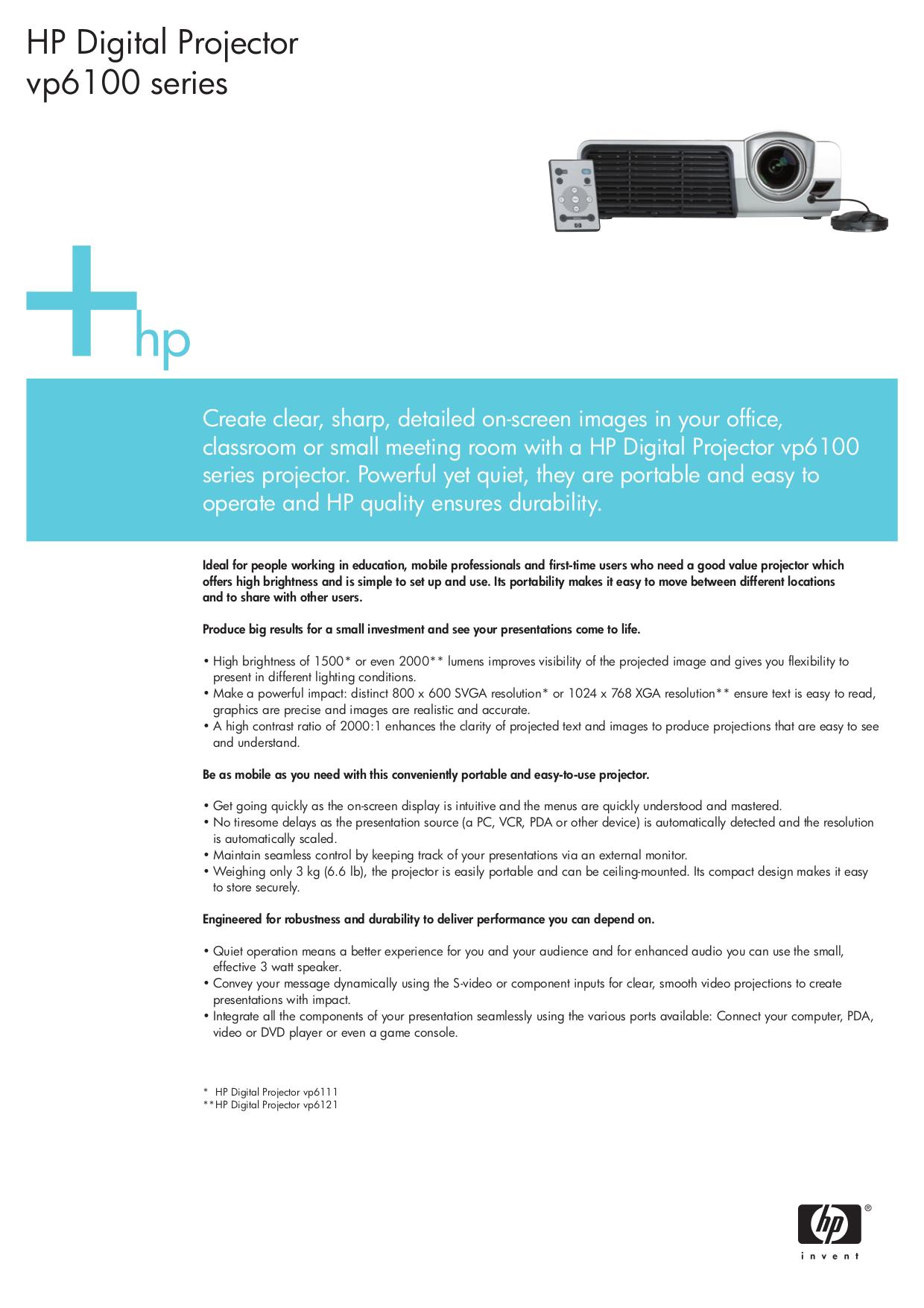 download free pdf for hp vp6111 projector manual rh umlib com