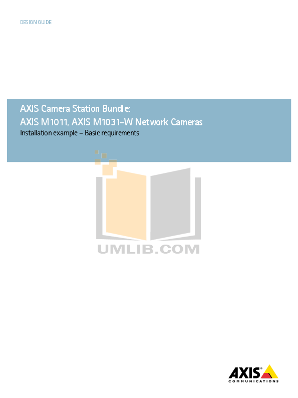 pdf for Axis Security Camera M1031 manual