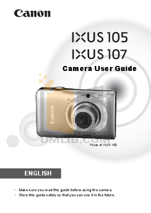 pdf for Canon Digital Camera IXUS 110 IS manual