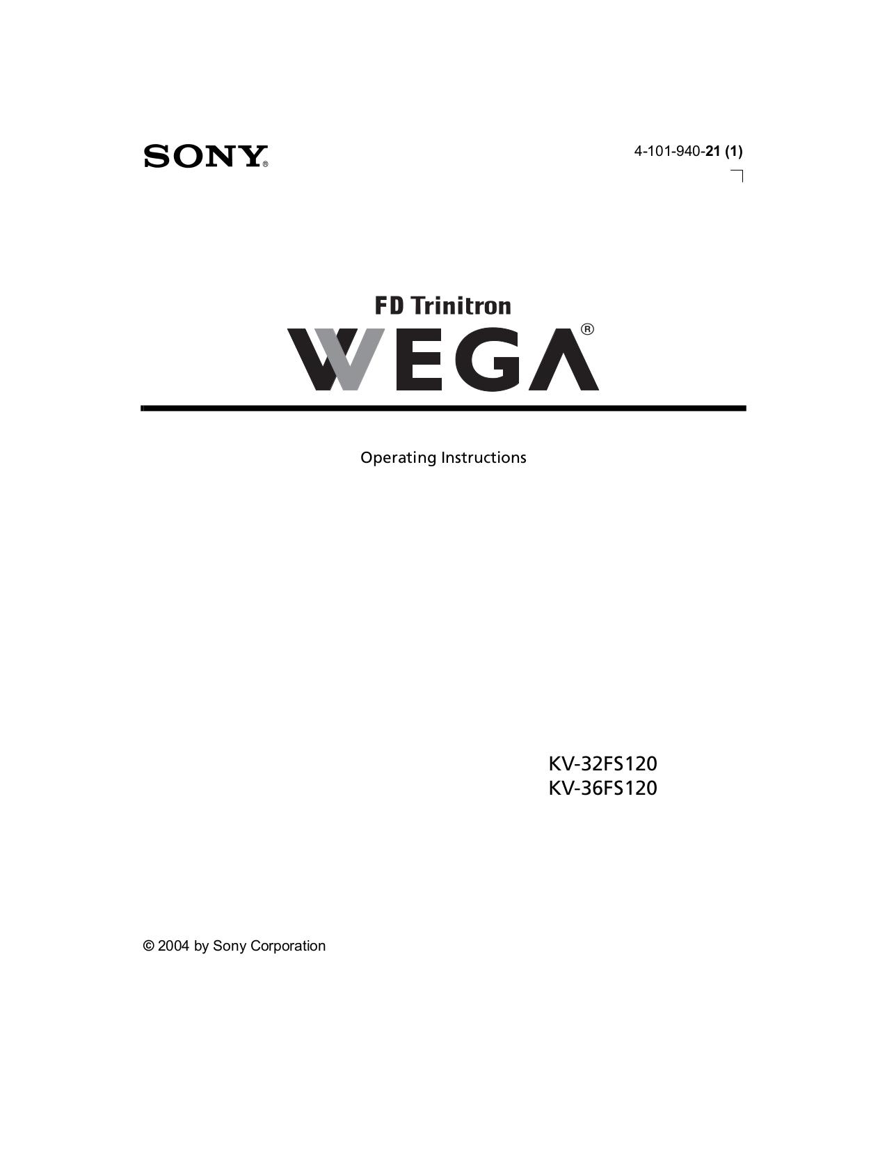 download free pdf for sony wega kv 32fs120 tv manual rh umlib com sony wega manual reset sony wega manual reset