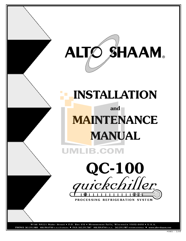 pdf for AltoShaam Other QC-20 Coolers manual