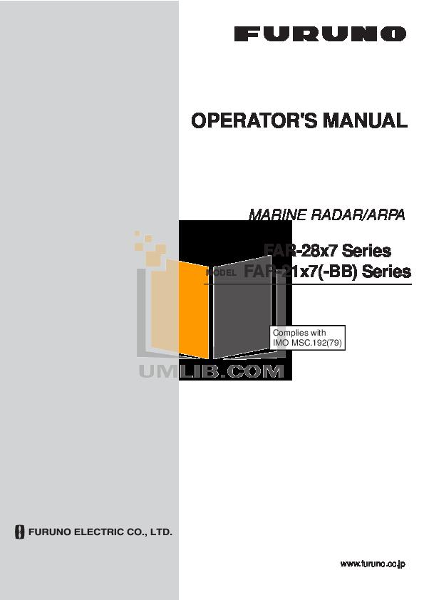 pdf for Furuno GPS FI-302 manual