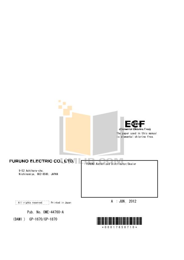 Furuno GPS FI-302 pdf page preview