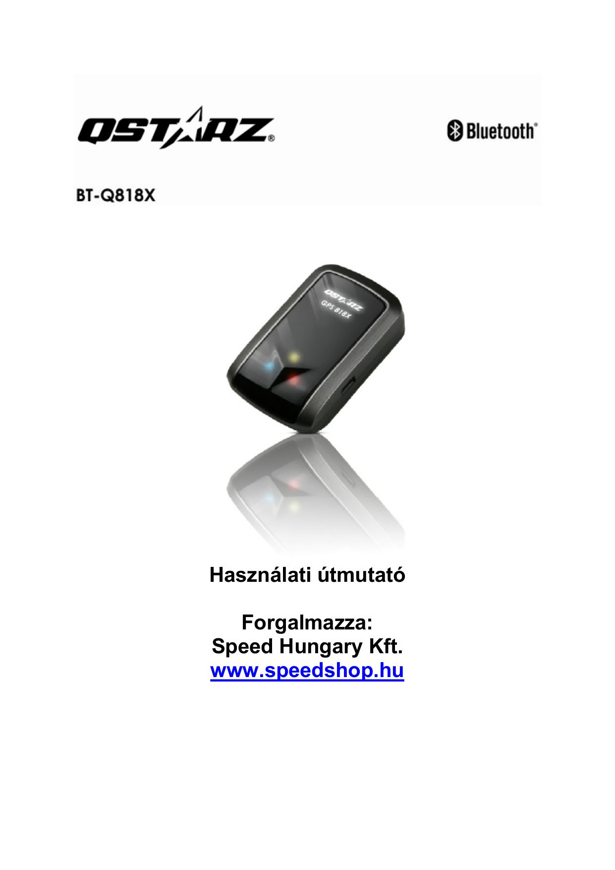 pdf for Qstarz GPS BT-Q818X manual