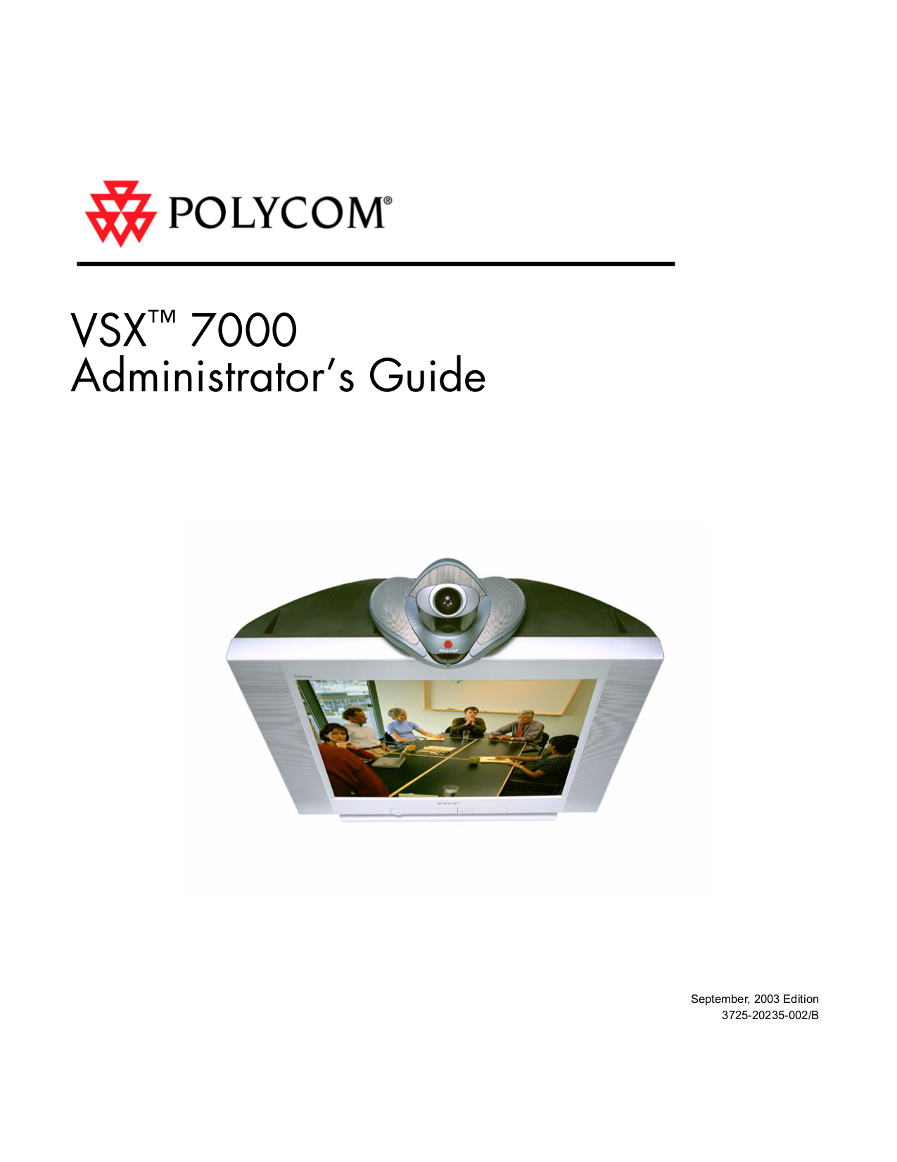 Polycom vsx7000 manual.