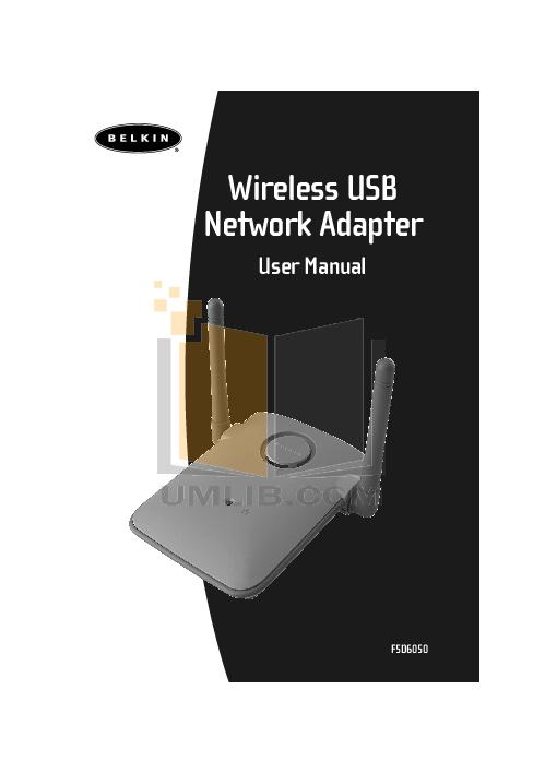 pdf for Belkin Router F5D6050 manual