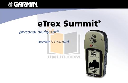 garmin etrex owners manual english free owners manual u2022 rh wordworksbysea com Garmin eTrex Videos garmin etrex summit hc manual español