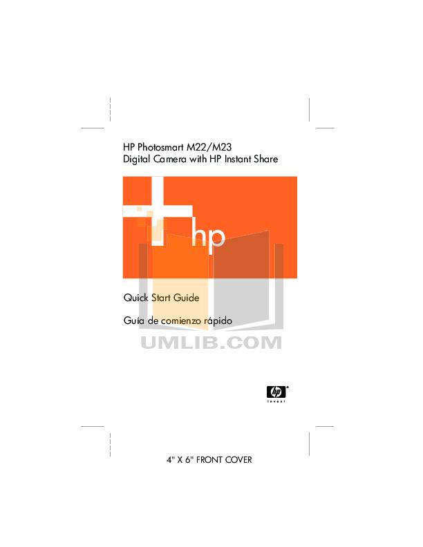 pdf for HP Digital Camera Photosmart M23 manual