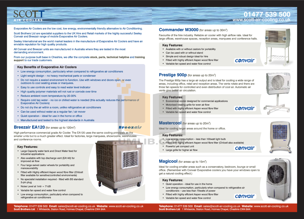 ... Convair Air Conditioner Prestige 900 pdf page preview