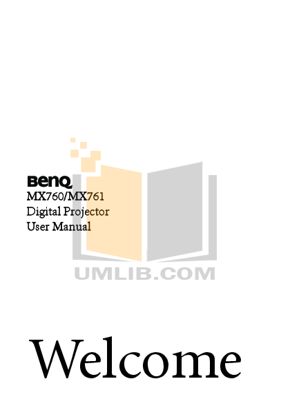 pdf for Benq Projector MX760 manual