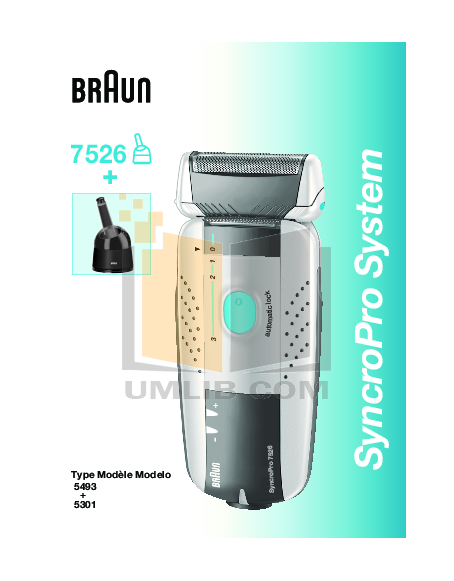 pdf for Braun Other SyncroPro 7526 Shavers manual