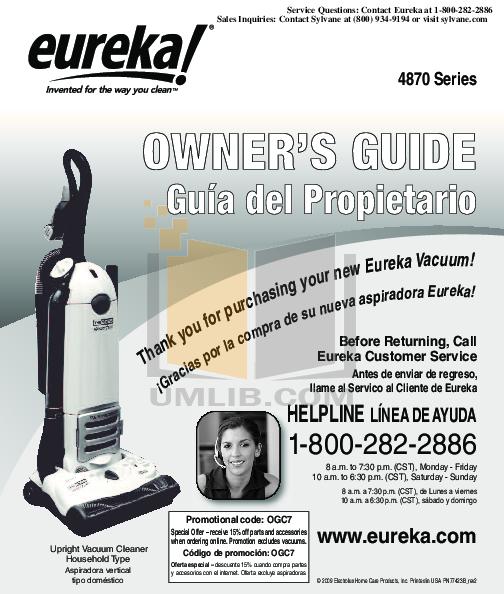 download free pdf for eureka maxima 4700d vacuum manual rh umlib com eureka maxima 4704 owners manual eureka vacuum cleaner owner's manual