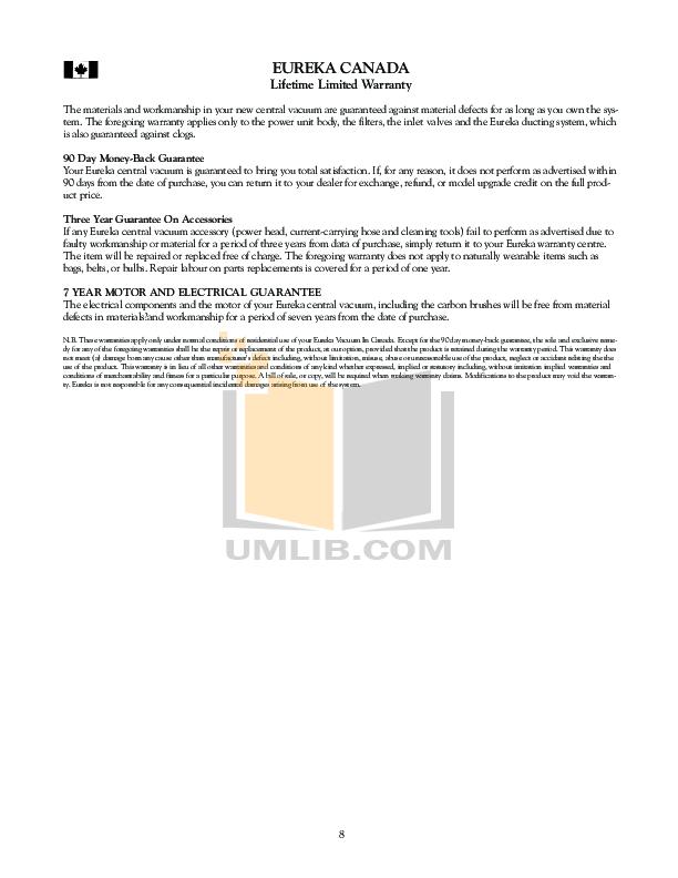 pdf manual for eureka vacuum maxima 4700d rh umlib com Eureka the Boss Vacuum Manual Eureka Vacuum Company