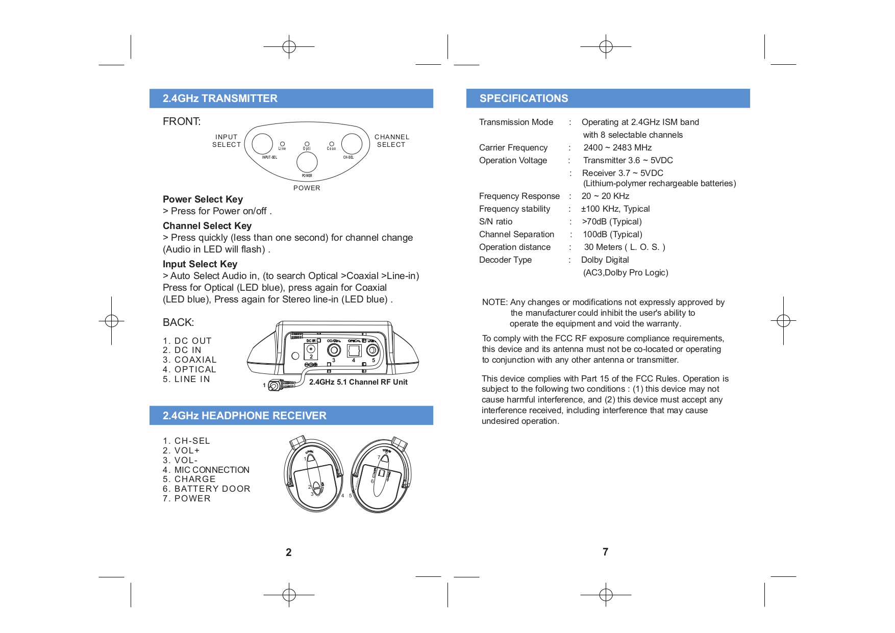 LTB Headphone Q-Home-FX pdf page preview