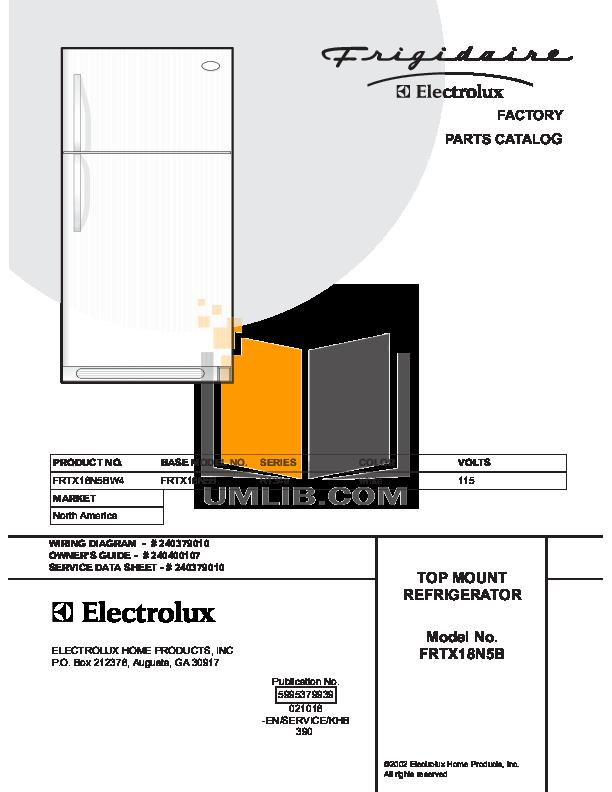 pdf for Frigidaire Refrigerator FRTX18N5BW4 manual