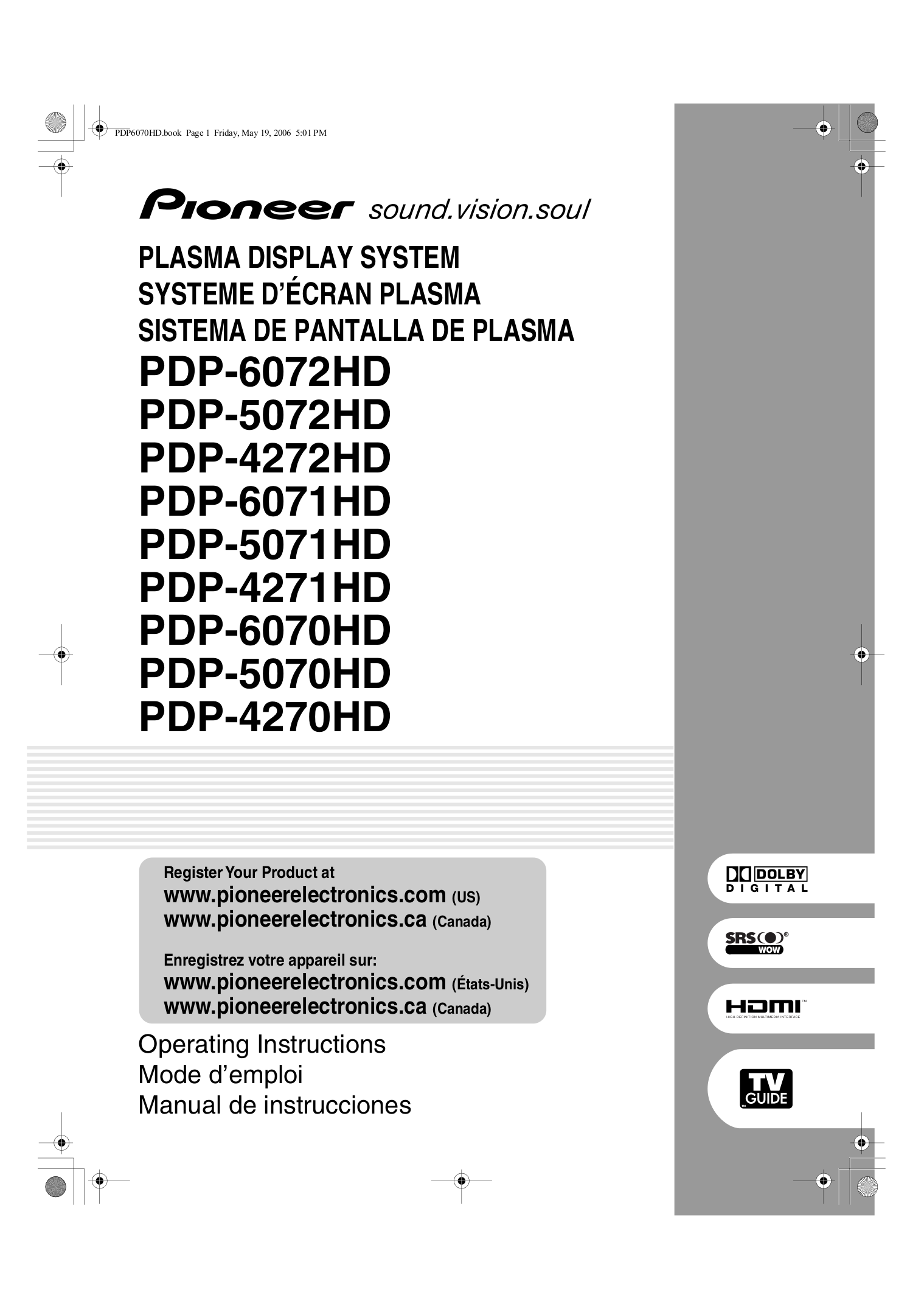download free pdf for pioneer pdp 5070hd tv manual rh umlib com Atari Climber Manual Atari Climber Manual