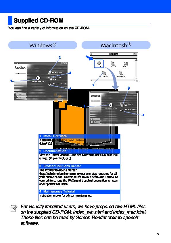 PDF manual for Brother Printer HL-7050