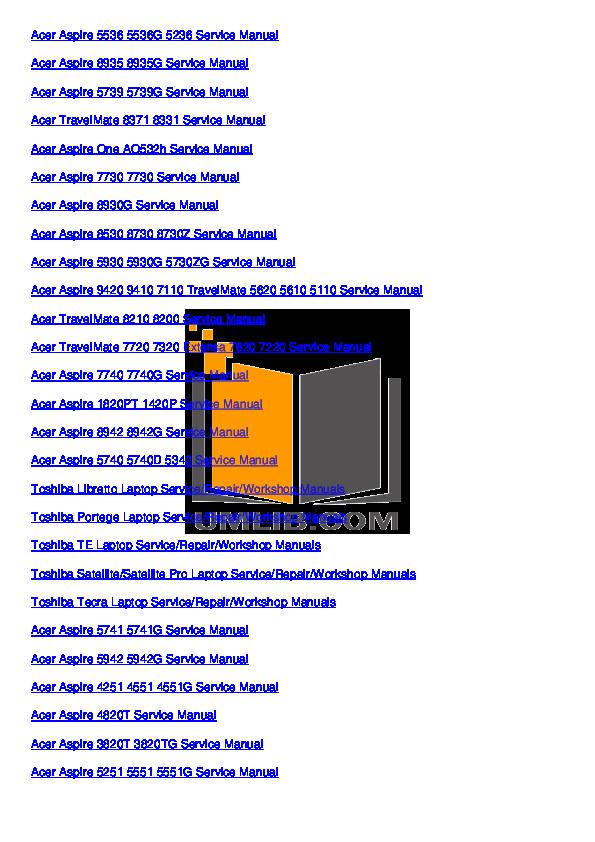 pdf manual for acer laptop aspire 5630 rh umlib com Acer User Guides and Manuals Acer Aspire Server