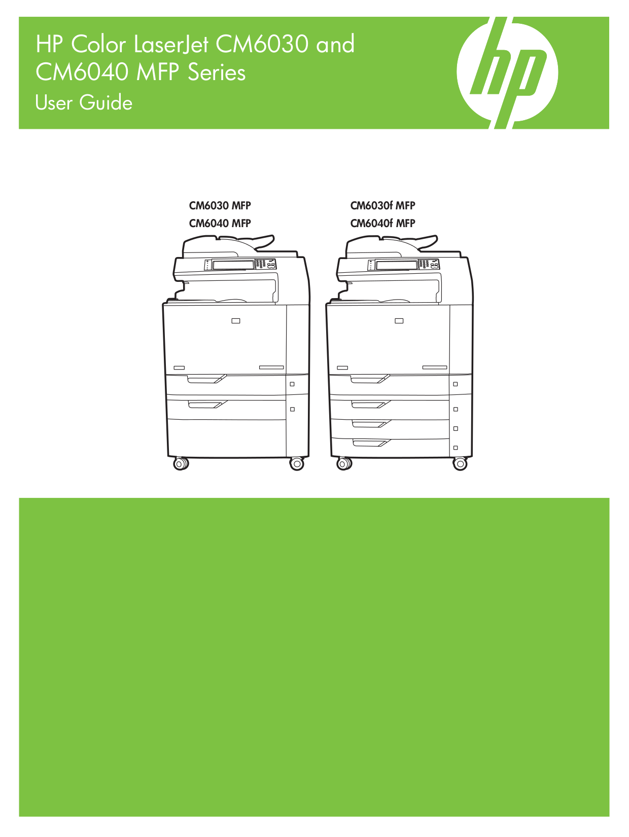 pdf for HP Multifunction Printer Laserjet,Color Laserjet CM6030f manual
