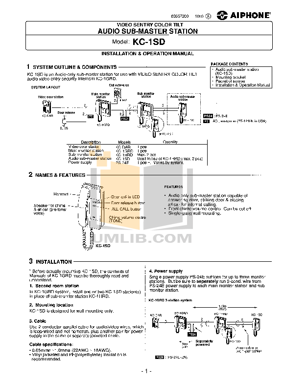 pdf for Aiphone Other KC-1GRD Intercoms manual