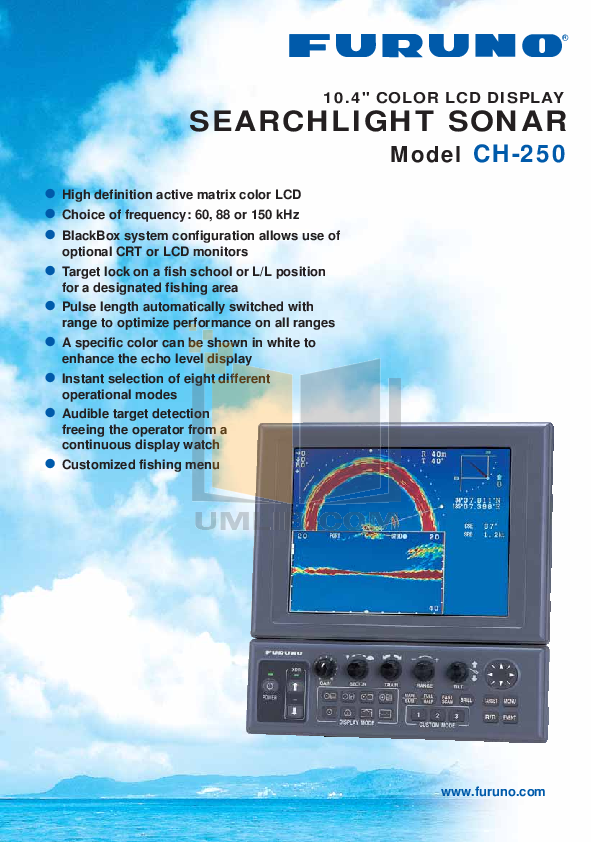 pdf for Furuno Other CH-250 Sonar manual