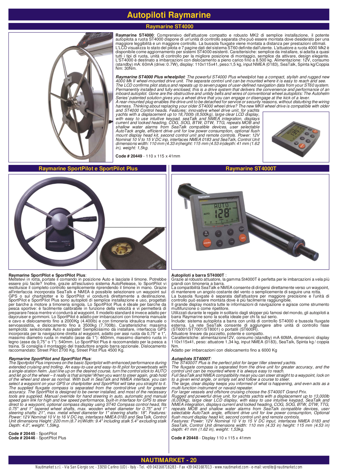 catalogo 2005 020.pdf 0 download free pdf for raymarine st4000 gps manual autohelm 4000 wiring diagram at gsmx.co