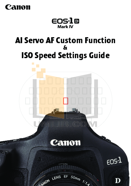 Canon Digital Camera EOS 1D Mark IV pdf page preview
