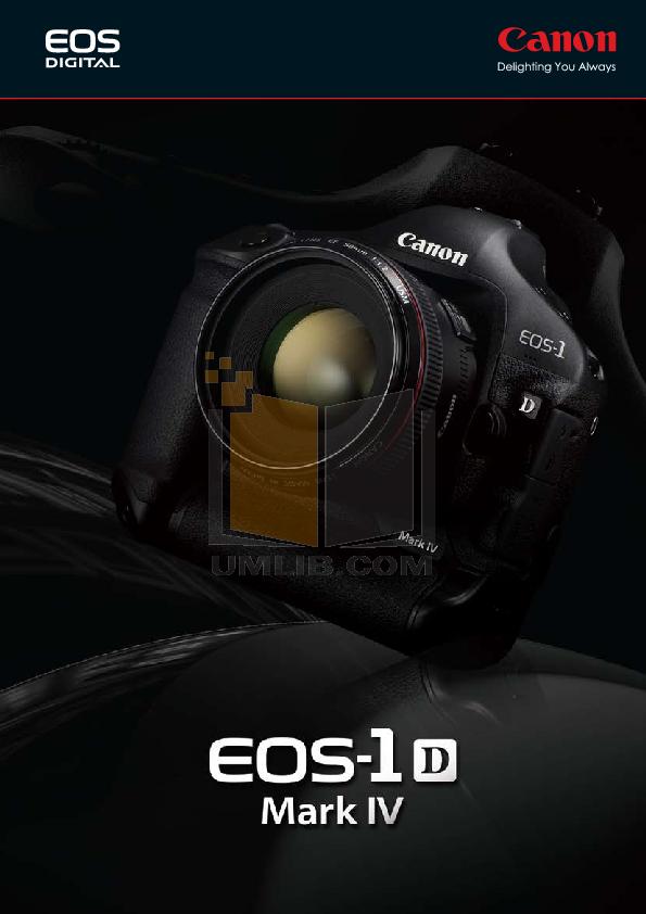 pdf for Canon Digital Camera EOS 1D Mark IV manual