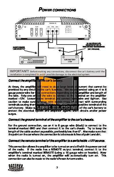pdf manual for bazooka car amplifier rsa800 1d rh umlib com 700 Watt Bazooka Amp Bazooka 500 Watt Amplifiers