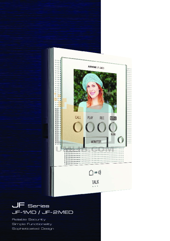 pdf for Aiphone Other JF-DVF Intercoms manual