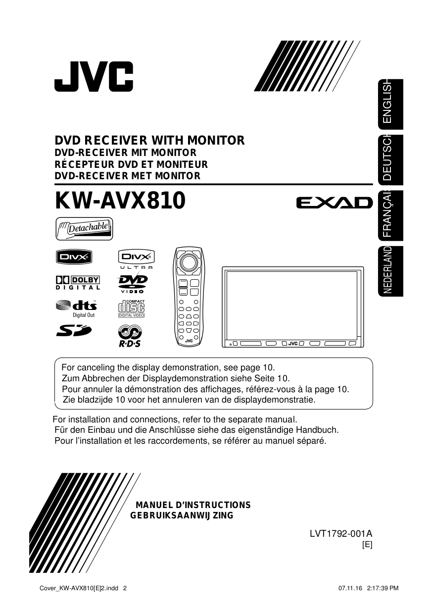 KW AVX810r.pdf 0 download free pdf for jvc kw avx810 car video manual jvc kw-avx810 wiring diagram at fashall.co