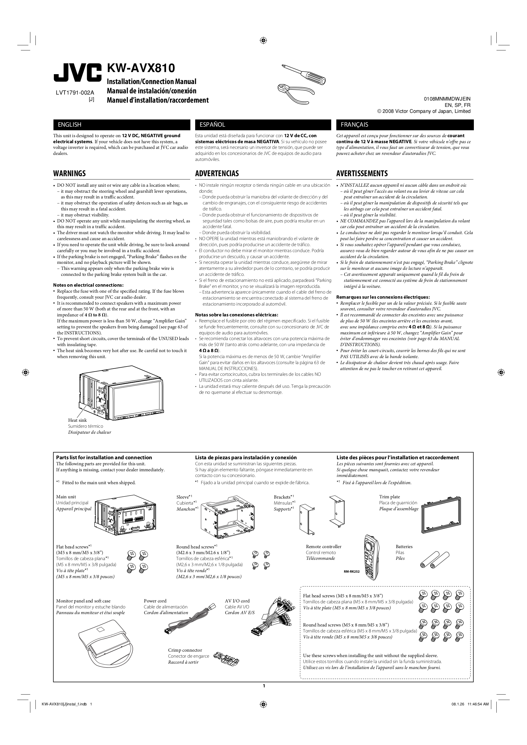 LVT1791 002A.pdf 0 download free pdf for jvc kw avx810 car video manual jvc kw-avx810 wiring diagram at fashall.co