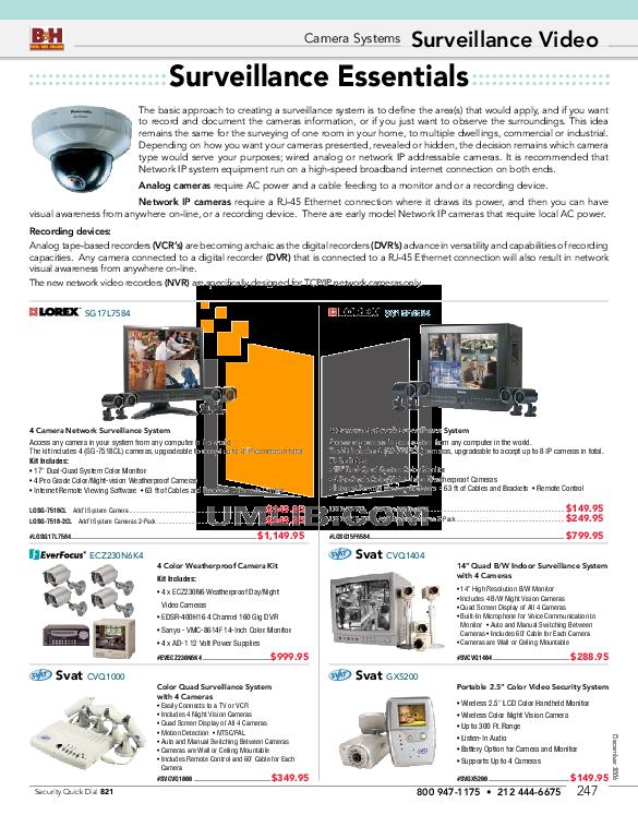 pdf for Elmo Security Camera TNC4604X manual