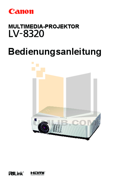 pdf for Canon Projector LV-8320 manual