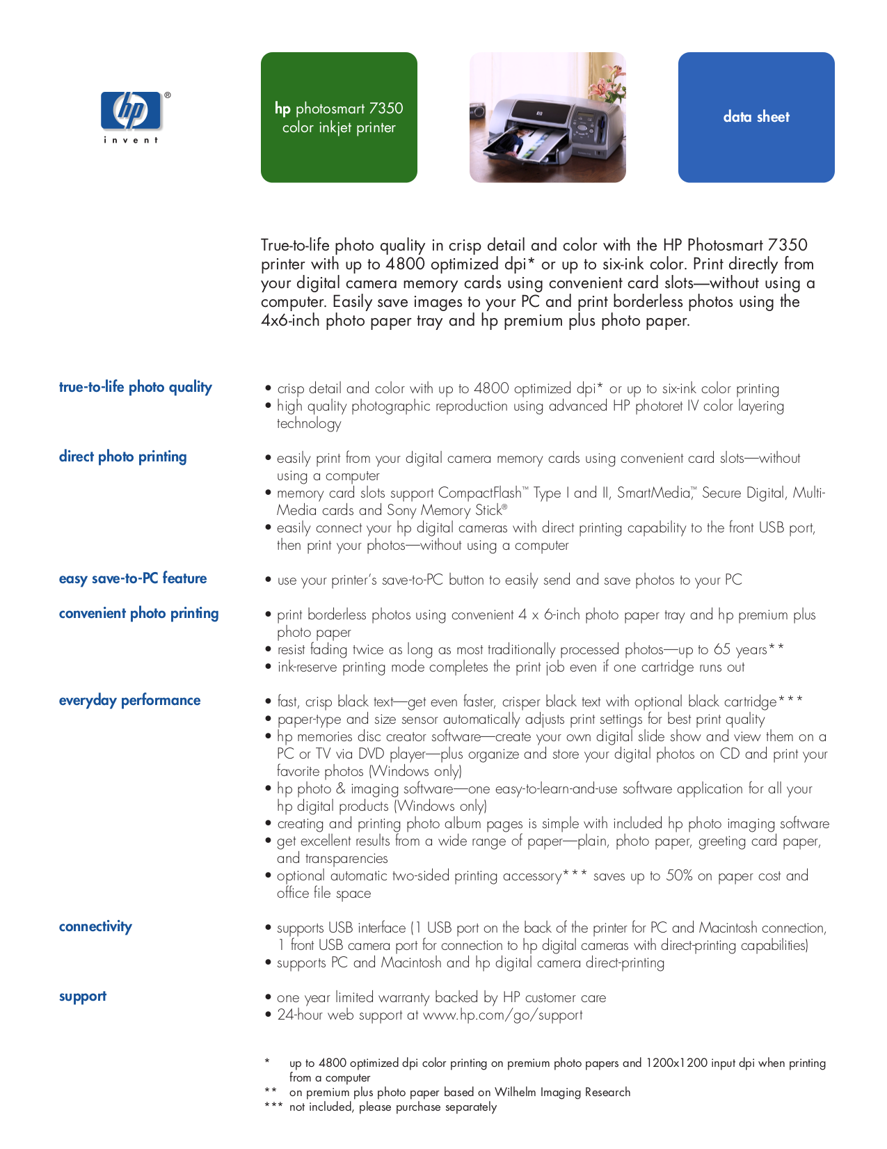 pdf for HP Printer Photosmart 7350 manual