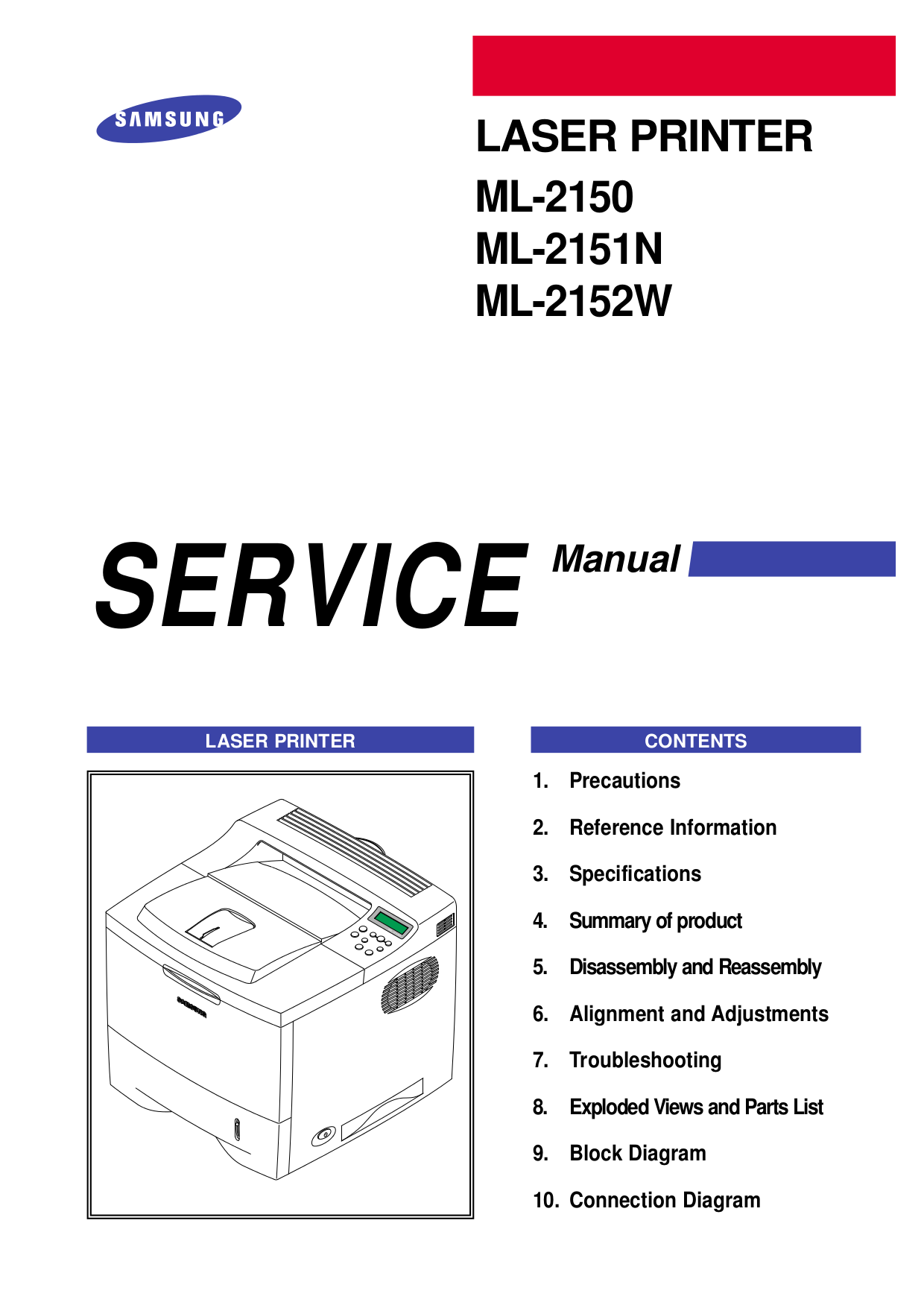 pdf for Samsung Printer ML-5000A manual
