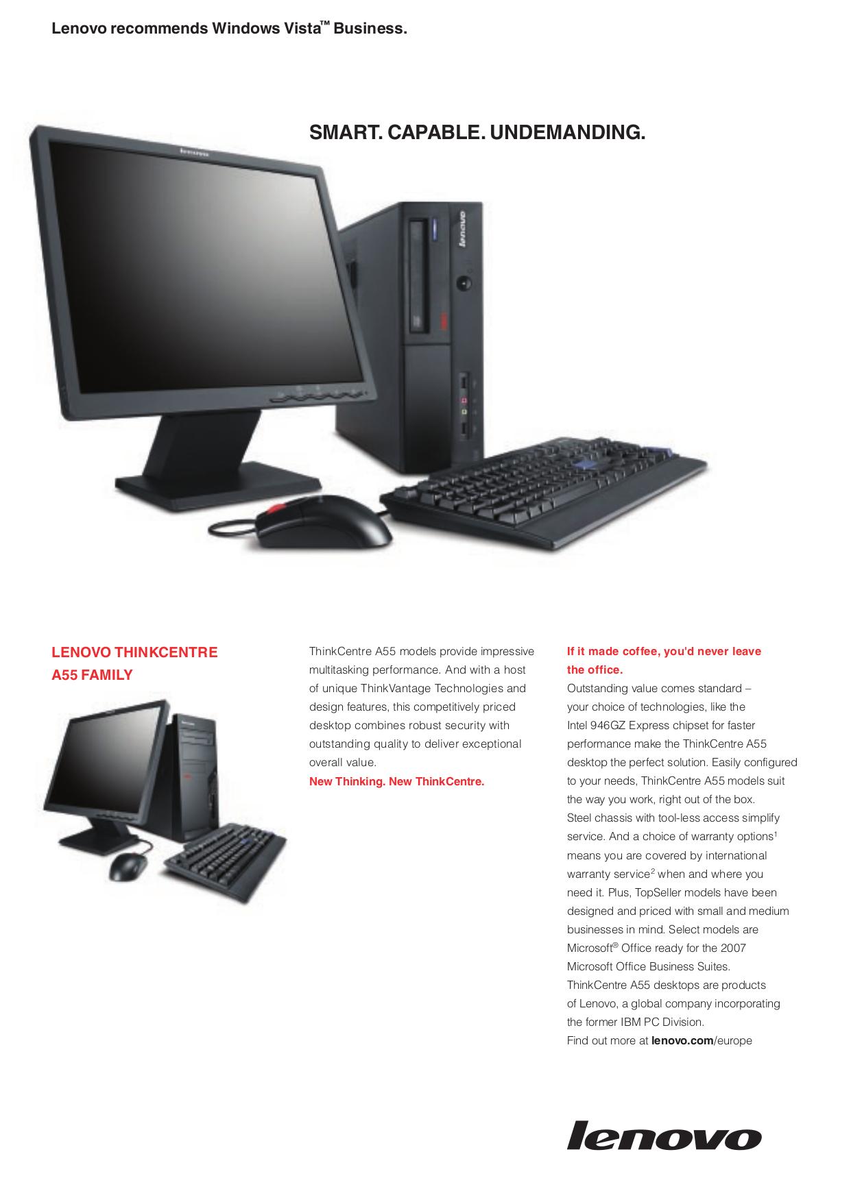 pdf for Lenovo Desktop ThinkCentre A55 8975 manual