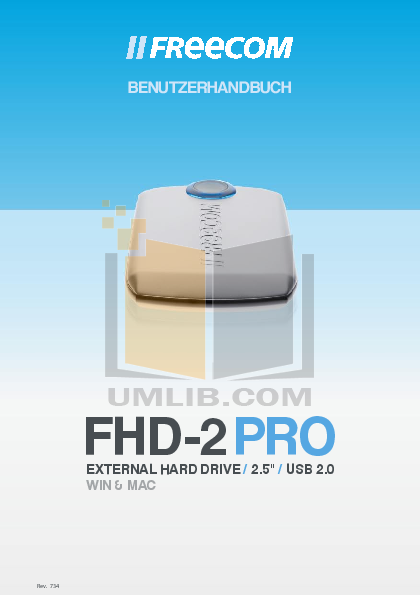 pdf for Freecom Storage FHD-2 PRO manual