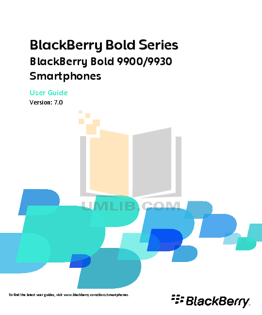 pdf for Blackberry Cell Phone Bold 9900 manual