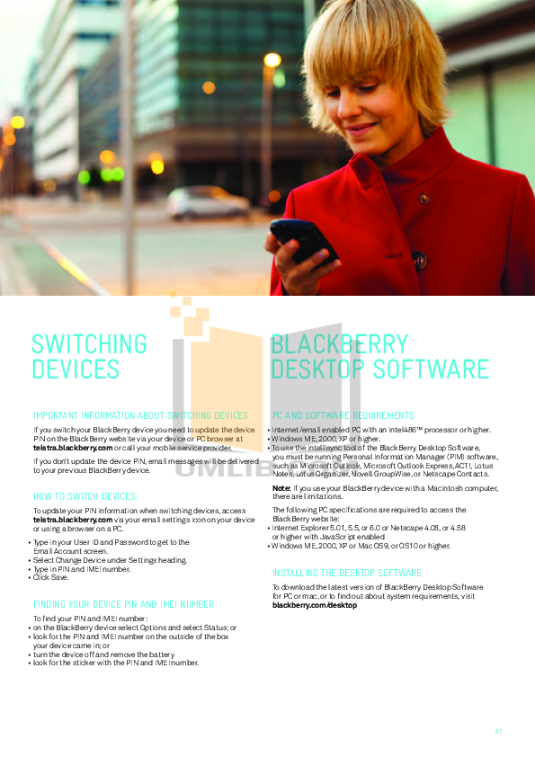 Blackberry Cell Phone Bold 9900 pdf page preview