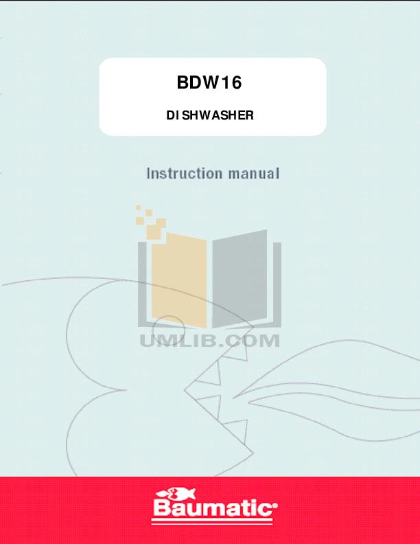 pdf for Baumatic Dishwasher BDW16 manual