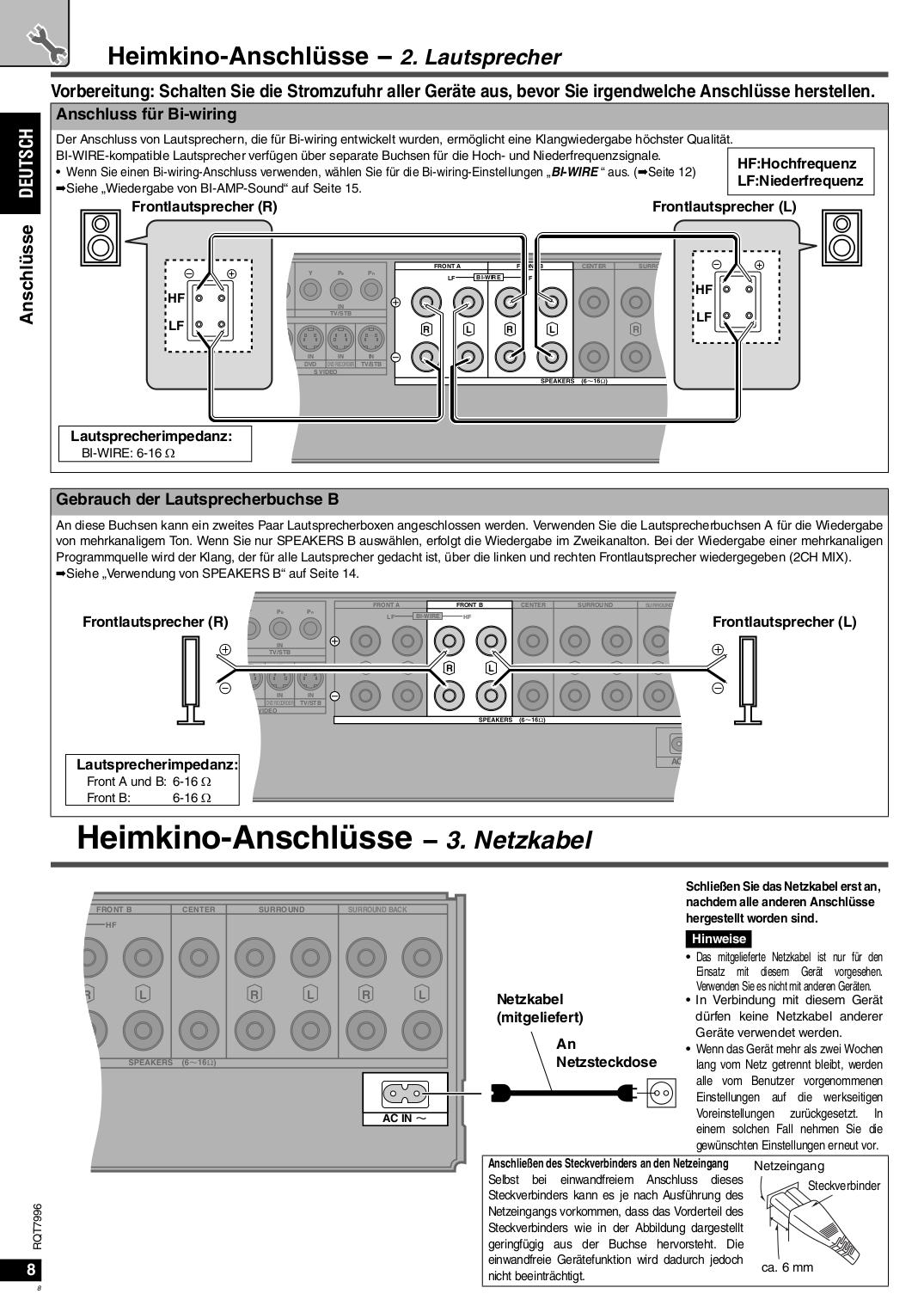 Schön Bi Draht Vs Bi Amp Zeitgenössisch - Der Schaltplan - greigo.com